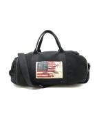 POLO JEANS CO.(ポロジーンズカンパニー)の古着「星条旗ボストンバッグ」|ブラック