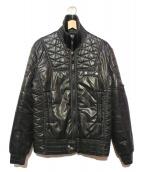 CDG JUNYA WATANABE MAN(コムデギャルソンジュンヤワタナベマン)の古着「ライダース調中綿ジャケット」|ブラック