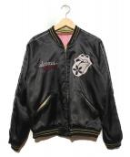 東洋エンタープライズ(トウヨウエンタープライズ)の古着「スカジャン」|ブラック×ピンク