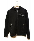 MONCLER(モンクレール)の古着「フロントロゴボンディングジップパーカー」|ブラック