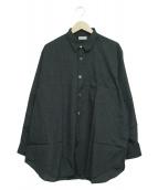 COMME des GARCONS HOMME(コムデギャルソンオム)の古着「チェックシャツ」|ブラック×グリーン