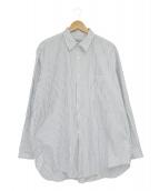 COMME des GARCONS HOMME(コムデギャルソンオム)の古着「ストライプシャツ」|ホワイト×ネイビー