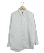 COMME des GARCONS HOMME(コムデギャルソンオム)の古着「ストライプBDシャツ」 ホワイト×ネイビー
