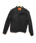 ONI DENIM(オニデニム)の古着「20oz3rdモデルブラックデニムジャケット」 ブラック