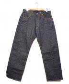 SAMURAI JEANS(サムライジーンズ)の古着「17ozセルビッチデニムパンツ」 インディゴ