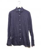 BARBA(バルバ)の古着「リネンシャツ」|ネイビー