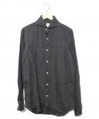 finamore(フィナモレ)の古着「リネンシャツ」 ネイビー