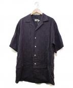 BED J.W. FORD(ベッドフォード)の古着「オープンカラーシャツ」|パープル