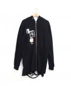 MISBHV(ミスビヘイブ)の古着「デストロイパーカー」|ブラック