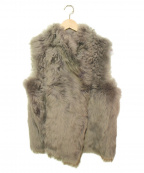 GUSHLOW&COLE(ガシュロウ&コール)の古着「ファーベスト」|グレー