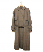 Unaca(アナカ)の古着「クラシックチェックトレンチコート」|グレー
