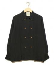 CHANEL(シャネル)の古着「カフスボタンシルクシャツ」|ブラック