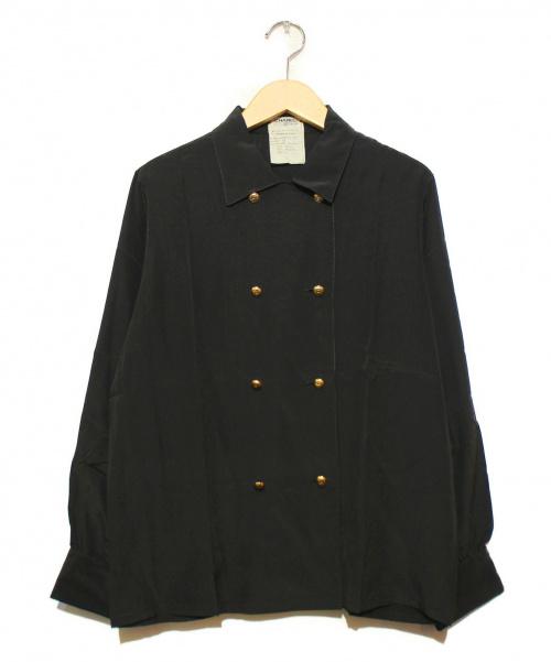 CHANEL(シャネル)CHANEL (シャネル) カフスボタンシルクシャツ ブラック サイズ:36  ヴィンテージシャネル 78913/20の古着・服飾アイテム