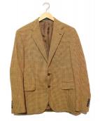 POLO RALPH LAUREN(ポロラルフローレン)の古着「シルク混テーラードジャケット」|ベージュ×ブラウン