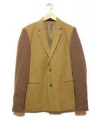 UNDERCOVERISM(アンダーカバイズム)の古着「ニットスリーブテーラードジャケット」 ベージュ