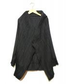 ISSEY MIYAKE FETE(イッセイミヤケ フェット)の古着「プリーツジャケット」|ブラック