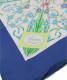 GUCCI (グッチ) ヴィンテージフローラルシルクスカーフ ネイビー×ホワイト 未使用品:9800円