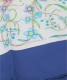 中古・古着 GUCCI (グッチ) ヴィンテージフローラルシルクスカーフ ネイビー×ホワイト 未使用品:9800円