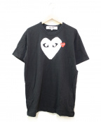 PLAY COMME des GARCONS()の古着「プリントTシャツ」|ブラック