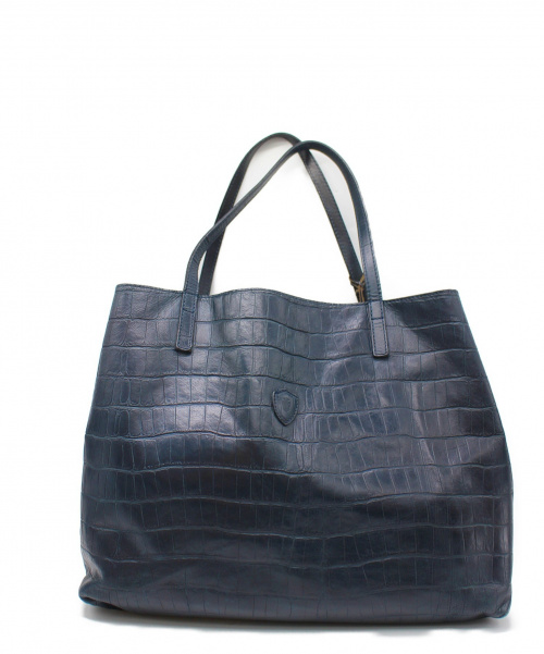 Felisi(フェリージ)Felisi (フェリージ) クロコ型押しレザートートバッグ ネイビー 11-91の古着・服飾アイテム