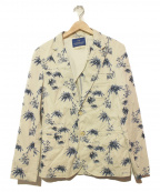 SCOTCH & SODA(スコッチアンドソーダ)の古着「アロハテーラードジャケット」|ブルー×ホワイト
