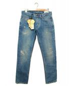 Denham(デンハム)の古着「ダメージデニムパンツ」|インディゴ