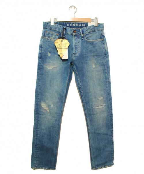 Denham(デンハム)Denham (デンハム) ダメージデニムパンツ インディゴ サイズ:31 未使用品  RAZOR DCARの古着・服飾アイテム