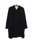 Rags McGREGOR(ラグスマックレガー)の古着「リブカラーウールコート」 ブラック