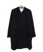 Rags McGREGOR(ラグス マクレガー)の古着「リブカラーウールコート」|ブラック