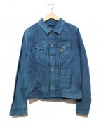 SCOTCH & SODA(スコッチアンドソーダ)の古着「染色加工デニムジャケット」|グリーン