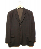 COMME des GARCONS HOMME(コムデギャルソンオム)の古着「90`Sチェック3Bジャケット」|ブラウン