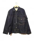 SEVESKIG(セヴシグ)の古着「コンチョボタンデニムジャケット」|インディゴ