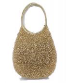 ANTEPRIMA(アンテプリマ)の古着「ワイヤーハンドバッグ」 ゴールド