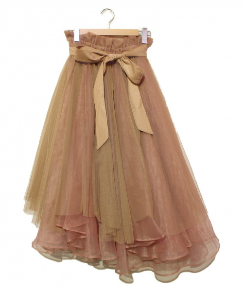 la belle etude(ラベルエチュード)la belle Etude (ラベルエチュード) チュールスカート ピンク サイズ:FREEの古着・服飾アイテム