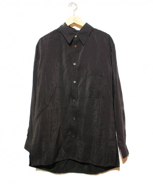 LEMAIRE(ルメール)LEMAIRE (ルメール) シルクシャツ ブラック サイズ:46 20年モデルの古着・服飾アイテム