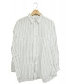 COMME des GARCONS HOMME(コムデギャルソンオム)の古着「ストライプシャツ」|ネイビー×ホワイト