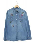 Hysteric Glamour(ヒステリックグラマー)の古着「ワークシャツ」|ブルー