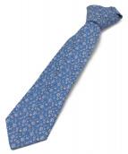 LOUIS VUITTON(ルイヴィトン)の古着「シルクネクタイ」|ブルー