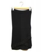 CHANEL(シャネル)の古着「ミニココマークリブニットスカート」 ブラック