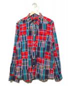 SOPHNET.(ソフネット)の古着「パッチワークシャツ」 レッド×グリーン