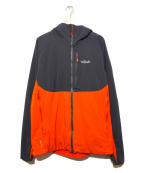 Rab(ラブ)の古着「裏フリースマウンテンパーカー」 オレンジ×グレー