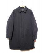 BEAUTY&YOUTH UNITED ARROWS(ビューティーアンドユース ユナイテッドアローズ)の古着「パテッドステンカラー中綿コート」|ブラック