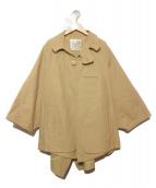 macromauro(マクロマウロ)の古着「S/Sビッグシルエットコート」 ベージュ