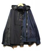 NIKE×sacai(ナイキ×サカイ)の古着「再構築ナイロンジャケット」|ネイビー
