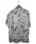 Porter Classic(ポータークラシック)の古着「アロハシャツ」|ホワイト×ブルー