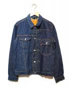 LEVIS×BEAMS(リーバイス×ビームス)の古着「バイカラーデニムジャケット」|インディゴ