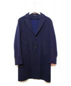 eidos(エイドス)の古着「ウールチェスターコート」|ネイビー