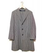 eidos(エイドス)の古着「ウールチェスターコート」|ネイビー×ホワイト