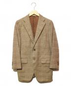 azabu tailor(アザブテーラー)の古着「ウールカシミヤテーラードジャケット」 ブラウン