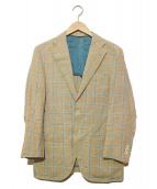 scabal(スキャバル)の古着「リネンテーラードジャケット」|ベージュ×ブルー